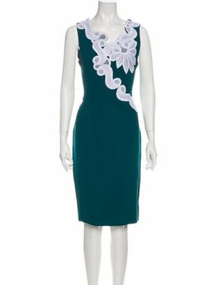 Antonio Berardi Asymmetrical Knee-Length Dress Green