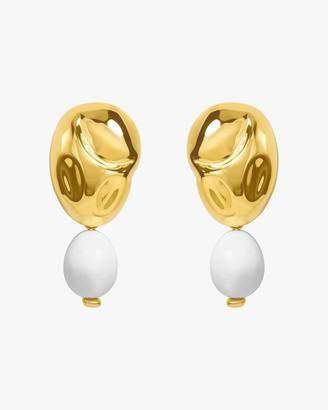 Monica Sordo Oriente White Onyx Drop Earrings