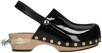 Elsa Nilsson Flats In Black Patent Leather