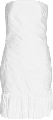 ZEYNEP ARCAY Crinkled Cotton Mini Dress