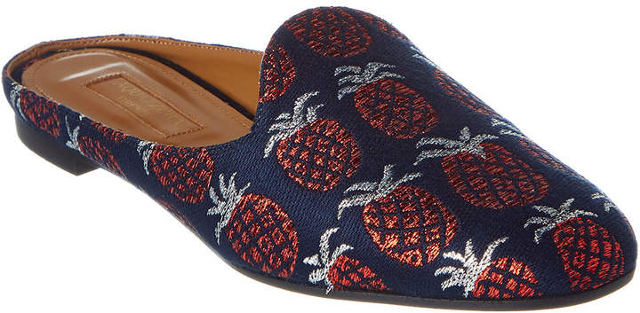 Aquazzura Brando Jacquard Pineapple Slipper
