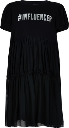 River Island Girls Black 'Influencer' t-shirt dress