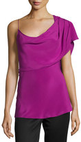 Cushnie et Ochs One-Shoulder Draped Tank Top, Orchid