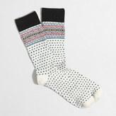 J.Crew Factory Fair Isle dot socks