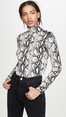 525 America Python Mock Neck Top