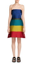 Mary Katrantzou Striped Bandeau Dress with Silk