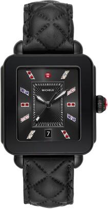 Michele Deco Sport Diamond Watch, 34mm