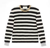 Gucci Striped merino cashmere knit top
