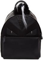 Fendi Black Snakeskin bag Bugs Backpack