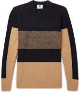 Nn07 - Colour-block Stretch-knit Sweater