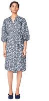 Rebecca Taylor Capucine Floral Hammered Silk Shirtdress