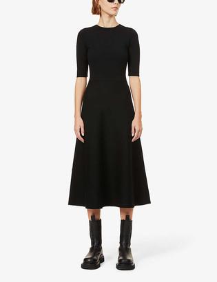 Gabriela Hearst Seymore cashmere and silk-blend midi dress