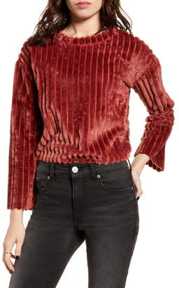 Love by Design Ribbed Teddy Sweater