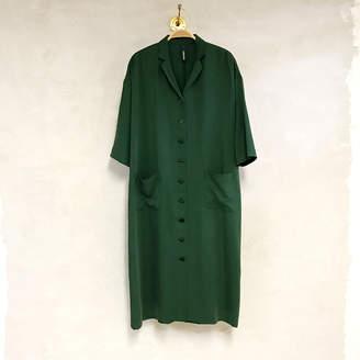 Liebling Malmö Liebling Malmo - Humla Leaf Green Tencel Dress - L - Green