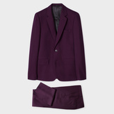 Paul Smith A Suit To Travel In - Men's Tailored-Fit Damson Wool Suit