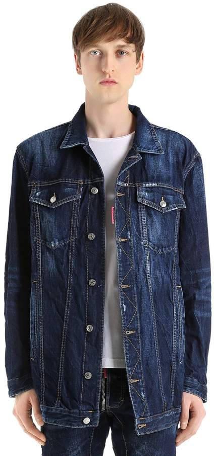 DSQUARED2 Oversized Be Cool Be Nice Denim Jacket