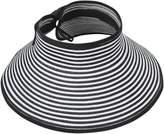 Simplicity Summer Women Wide Brim Sun Visor Foldable Roll Up Hat, 2066_B/White