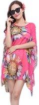 BIFINI Women's Chiffon Cute Sheer Beach Cover Up Wrap Dresses