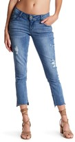 Democracy Step Hem Skinny Ankle Jean