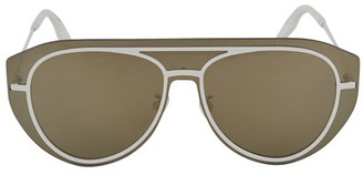 Kenzo Pilot Shield glasses in metal