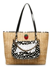 Betsey Johnson Strawberry Fields Tote with Shoulder Bag