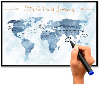 Oliver Gal Lets Go On A Journey Dry Erase Board