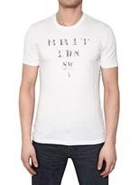 Burberry Jersey Brit Ldn Print Cotton T-Shirt