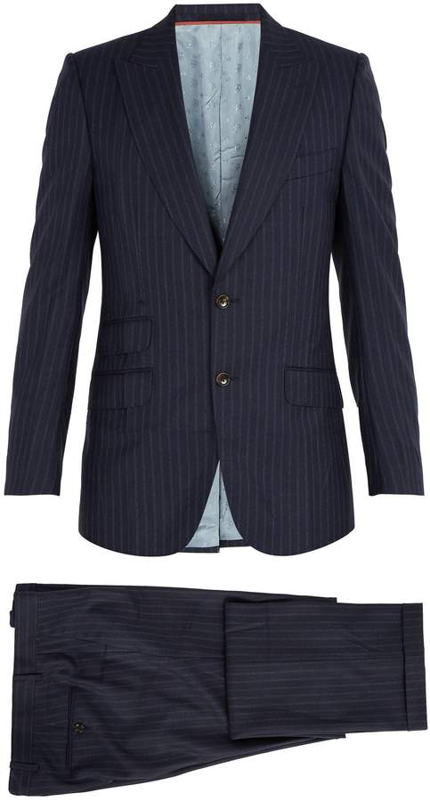 Gucci Pinstriped wool suit