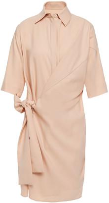 Victoria Victoria Beckham Tie-detailed Crepe Shirt Dress
