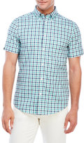 Ben Sherman Button-Down Gingham Short Sleeve Shirt