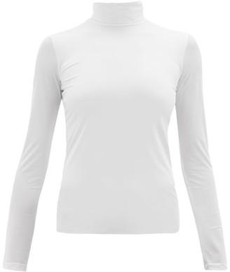 Jil Sander Roll-neck Stretch-jersey Top - White
