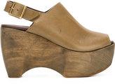 Simon Miller sling-back platform sandals - women - Leather/rubber - 36
