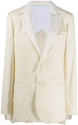 Maison Flaneur Long-Sleeved Button Up Blazer