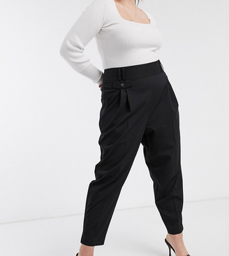 ASOS DESIGN Curve tailored smart high waist balloon pants