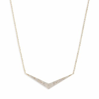 Jules Smith Designs Pave Point Necklace - 14k Gold Chevron Necklace for Women with Dainty Adjustable Chain for Perfect Sizing - Gold Plated V Necklace with Pave Crystal Pendant - Fashion Necklace for Women
