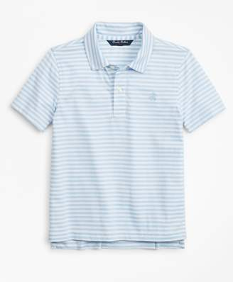 Brooks Brothers Boys Stripe Cotton Jersey Polo Shirt