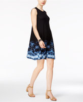 Style&Co. Style & Co Petite Printed-Hem Swing Dress, Only at Macy's