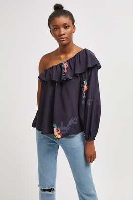 French Connection Delphine Drape Floral Top
