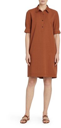 Lafayette 148 New York Boyes Stretch Cotton Polo Dress