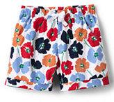Lands' End Toddler Girls Pattern Pull On Short-Crimson Dawn Flowers