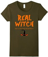 Women's Real Witch No Costume Required - Halloween T shirt Small