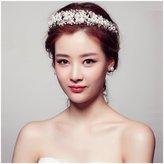 Casualfashion Hair Accessories Casualfashion Fantastic Bride Wedding Hair Tiaras Pearl Rhinestone Bridal Princess Crown Headdress Headpiece Jewelry