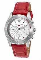 Swiss Legend Women's 'Paradiso' Swiss Quartz Stainless Steel and Leather Casual Watch, Color:Red (Model: 16016SM-02-RDS)