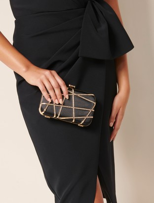 Forever New Stella Jewelled Clutch - Black - 00