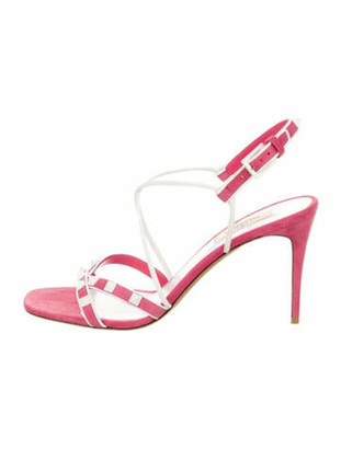 Valentino 2018 Rockstud Suede Sandals w/ Tags Pink