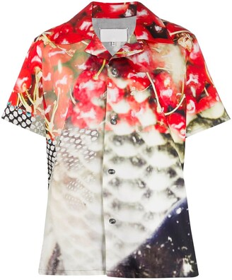 Maison Margiela Graphic Print Bowling Shirt