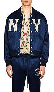 Gucci Men's NY YankeesTM Satin-Twill Bomber Jacket - Blue