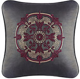 J Queen New York Bridgeport Velvet-Trimmed Embroidered Square Pillow