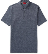 Isaia Space-dyed Cotton-jersey Polo Shirt - Blue