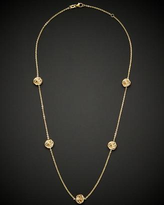 Italian Gold 14K Love Knot Necklace